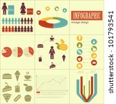 Elements of infographics for presentations - fast food and healthy eating - vector illustration - stock vector
