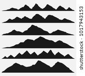 mountains silhouettes on the... | Shutterstock .eps vector #1017943153