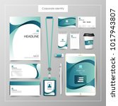 corporate identity template... | Shutterstock .eps vector #1017943807