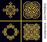 vintage logos templates set.... | Shutterstock .eps vector #1017945823