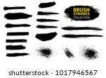 set of black paint  ink  grunge ... | Shutterstock .eps vector #1017946567