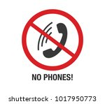 no phone vector sign.  | Shutterstock .eps vector #1017950773