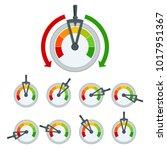success conceptual meter... | Shutterstock .eps vector #1017951367