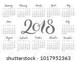 pocket calendar  2018 ... | Shutterstock .eps vector #1017952363