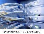 fiber optical connector... | Shutterstock . vector #1017952393