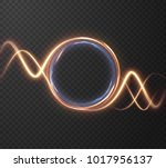 glowing shiny  lines effect... | Shutterstock .eps vector #1017956137