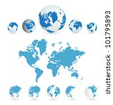 world map | Shutterstock .eps vector #101795893