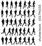 40 high quality male marathon... | Shutterstock .eps vector #101796103