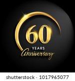 60 years anniversary... | Shutterstock .eps vector #1017965077