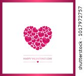 happy valentines day greeting... | Shutterstock .eps vector #1017972757