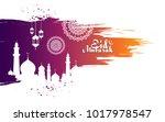 eid mubarak background template ... | Shutterstock .eps vector #1017978547