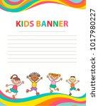 children banner template | Shutterstock .eps vector #1017980227