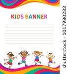 children banner template | Shutterstock .eps vector #1017980233