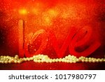 flowers with word love | Shutterstock . vector #1017980797