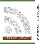 line travel icons are grouped... | Shutterstock .eps vector #1017992863