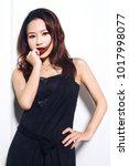 attractive asian woman portrait ... | Shutterstock . vector #1017998077