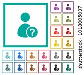 unknown user flat color icons... | Shutterstock .eps vector #1018005037