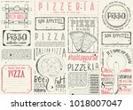 pizzeria placemat   paper... | Shutterstock .eps vector #1018007047