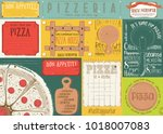 pizzeria placemat   paper... | Shutterstock .eps vector #1018007083