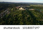 aerial view on pilgrimage... | Shutterstock . vector #1018007197