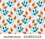 seamless pattern with rose hip... | Shutterstock .eps vector #1018012123