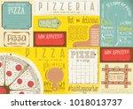 pizzeria placemat   paper... | Shutterstock .eps vector #1018013737