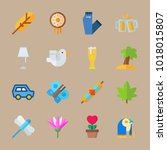 icons hippies with tree  dream... | Shutterstock .eps vector #1018015807