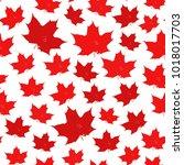 canada seamless pattern. vector ... | Shutterstock .eps vector #1018017703