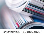 magazine close up | Shutterstock . vector #1018025023
