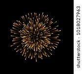 beautiful gold firework. couple ... | Shutterstock .eps vector #1018027963