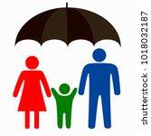 family logo concept. | Shutterstock .eps vector #1018032187