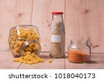 zero waste in kitchen | Shutterstock . vector #1018040173