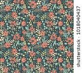 nice vector seamless flower... | Shutterstock .eps vector #1018040437