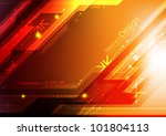 vector abstract electronic... | Shutterstock .eps vector #101804113