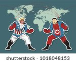 vector american and north... | Shutterstock .eps vector #1018048153