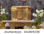Catholic Church Tabernacle 2 - stock photo