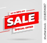 sale banner template design ...   Shutterstock .eps vector #1018054087