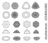 set of diamond design elements  ... | Shutterstock . vector #1018061083