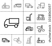 moving icons. set of 13... | Shutterstock .eps vector #1018063357