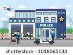 illustration of police... | Shutterstock .eps vector #1018065133