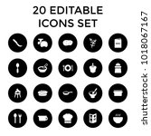 cooking icons. set of 20... | Shutterstock .eps vector #1018067167
