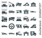 automobile icons. set of 25... | Shutterstock .eps vector #1018067197
