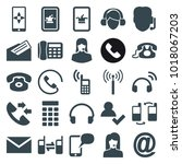 contact icons. set of 25... | Shutterstock .eps vector #1018067203