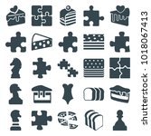 piece icons. set of 25 editable ... | Shutterstock .eps vector #1018067413