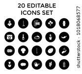 Plant Icons. Set Of 20 Editabl...