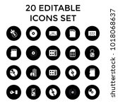 compact icons. set of 20... | Shutterstock .eps vector #1018068637
