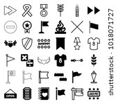 banner icons. set of 36... | Shutterstock .eps vector #1018071727