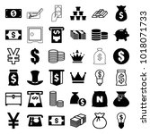 wealth icons. set of 36... | Shutterstock .eps vector #1018071733