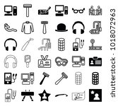 personal icons. set of 36... | Shutterstock .eps vector #1018072963