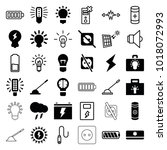 electricity icons. set of 36... | Shutterstock .eps vector #1018072993